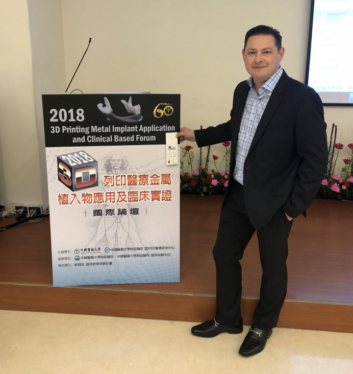 Dr. Zeetser gives Keynote Speech about FastForward Bunion Surgery and 3D Printing in Taiwan at China Medical University - June 2018